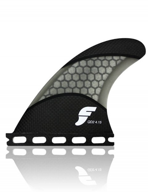 Futures QD2 4.15 Techflex Quad Rear Two Fin Set Large - Black/Smoke