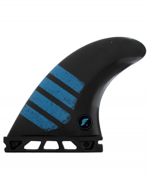 Futures F6 Alpha Tri-Quad Fins Medium - Carbon/Blue