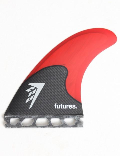 Future Fins Firewire Tri-Quad (Large) Five fin set - Black/Red