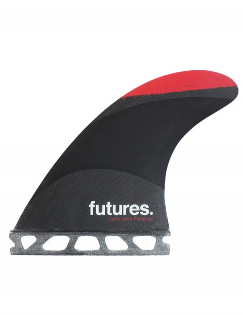 Futures John John Florence Techflex Tri Fins Small - Red Tip