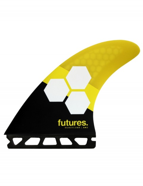 Futures AM2 Honeycomb Tri Fins Large - Yellow/Black