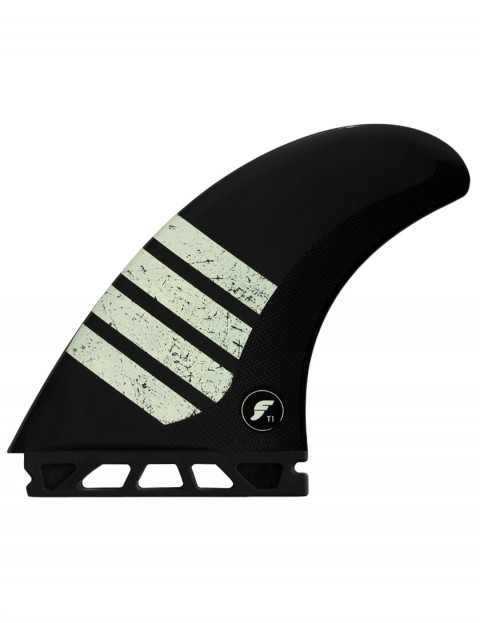 Futures Alpha T1 Twin + Trailer Fin Large - Carbon/Tan