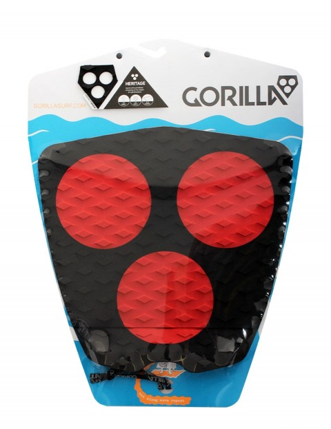 Gorilla 3 Dot Heritage surfboard tail pad - Black/Red