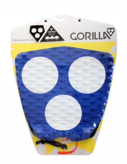 Gorilla 3 Dot Heritage surfboard tail pad - Blue/White