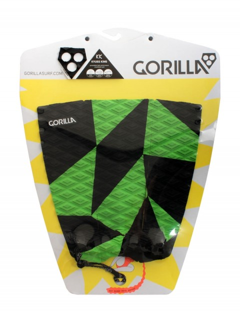 Gorilla Kyuss Crack surfboard tail pad - Black/Green