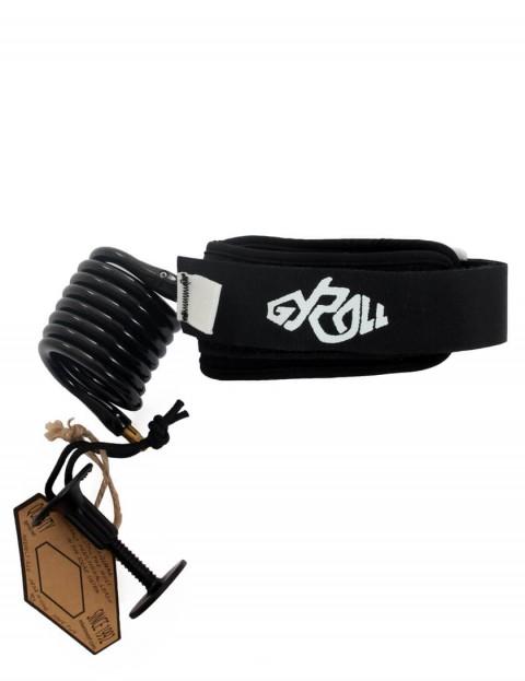 Gyroll Coiled Variables Bicep bodyboard leash - Black
