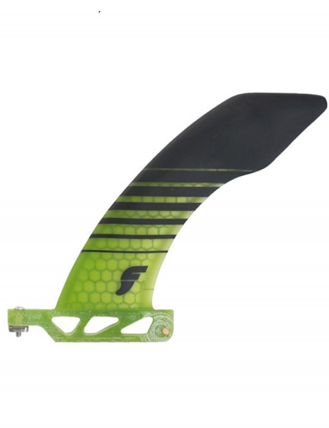 Futures Hatchet 2 + 1 Honeycomb 6.0 Longboard Fin Large - Neon Green/Black