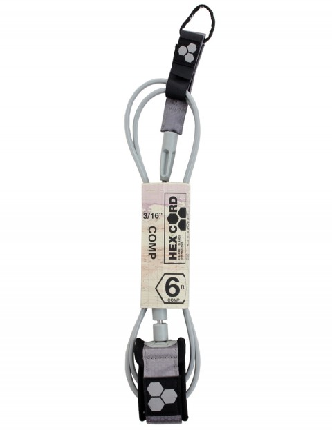 Channel Islands Hex Cord Comp surfboard leash 6ft - Silver