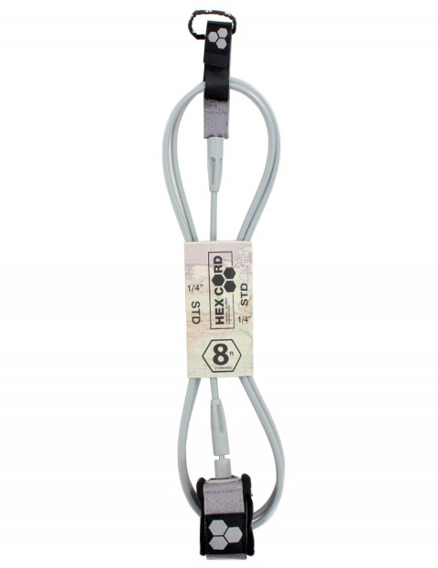 Channel Islands Hex Cord Standard surfboard leash 8ft - Silver