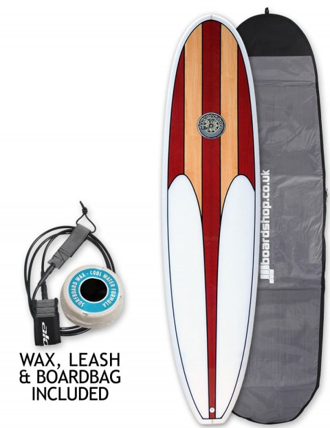 Hawaiian Soul Veneer Mini Mal surfboard package 7ft 6 - Cherry