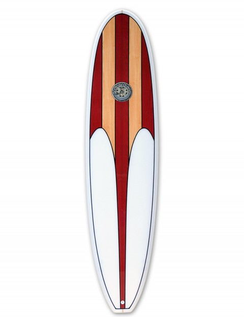 Hawaiian Soul Mini Mal surfboard 7ft 2 - Cherry