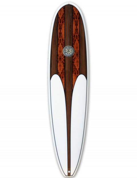 Hawaiian Soul Veneer Mini Mal Surfboard 8ft 0 Walnut