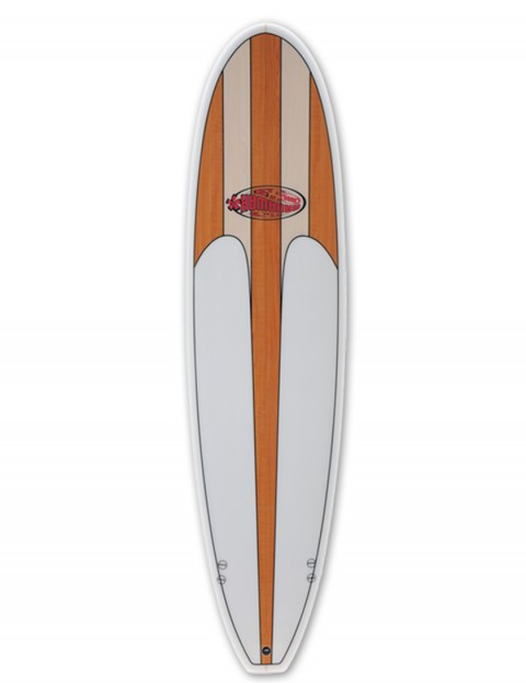 Hawaiian Soul Veneer Mini Mal surfboard 7ft 2 - Light Cherry