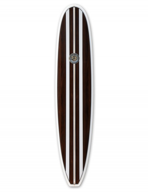 Hawaiian Soul Veneer Mini Mal surfboard 7ft 4 - Mahogany