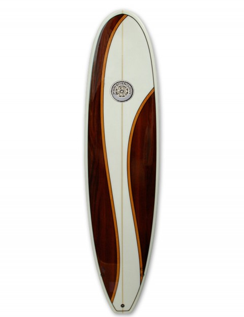 Hawaiian Soul Veneer Mini Mal surfboard 8ft 6 - Mahogany