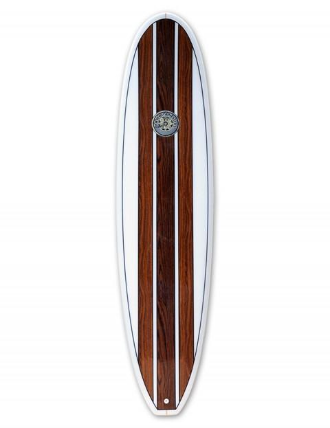 Hawaiian Soul Veneer Mini Mal surfboard 7ft 4 - Teak