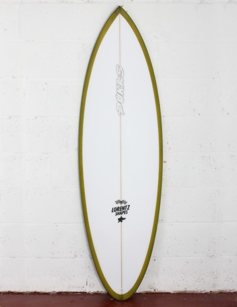 Pukas 69er Pro surfboard 5ft 10 Futures - Green