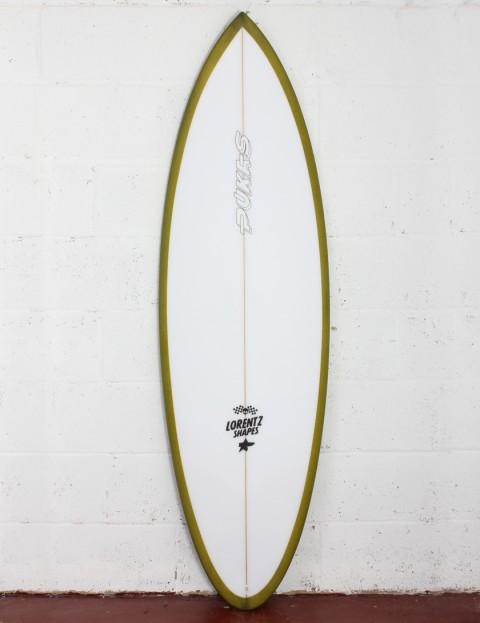 Pukas 69er Pro surfboard 5ft 10 Futures - Green