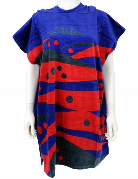 Alder Kids Printed Poncho changing robe - Royal