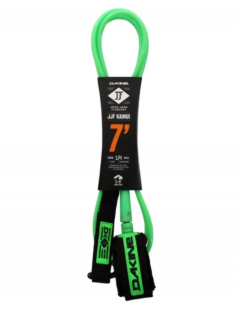 DaKine John John Florence Kainui surfboard leash 7ft - Black/Green