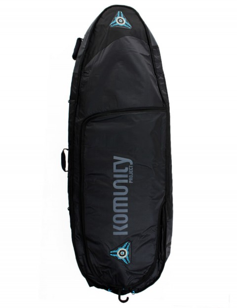 Komunity Project All Rounder Triple Lightweight 10mm Surfboard Bag 6ft 6 - Black