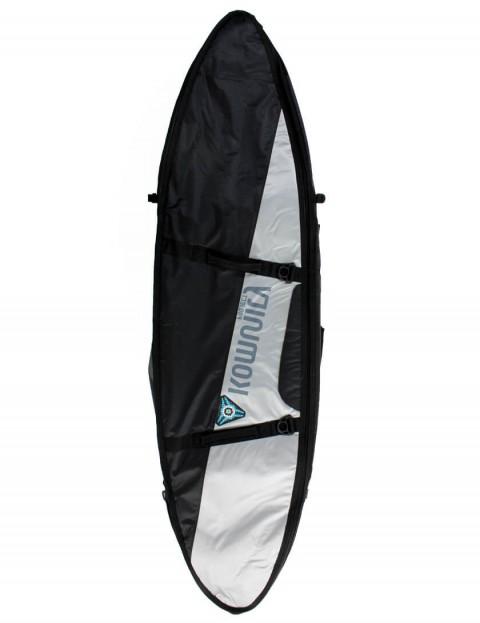 Komunity Project Triple/Quad Lightweight 10mm Surfboard Bag 6ft 6 - Black/Silver