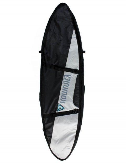 Komunity Project Triple/Quad Lightweight 10mm Surfboard Bag 7ft 6 - Black/Silver