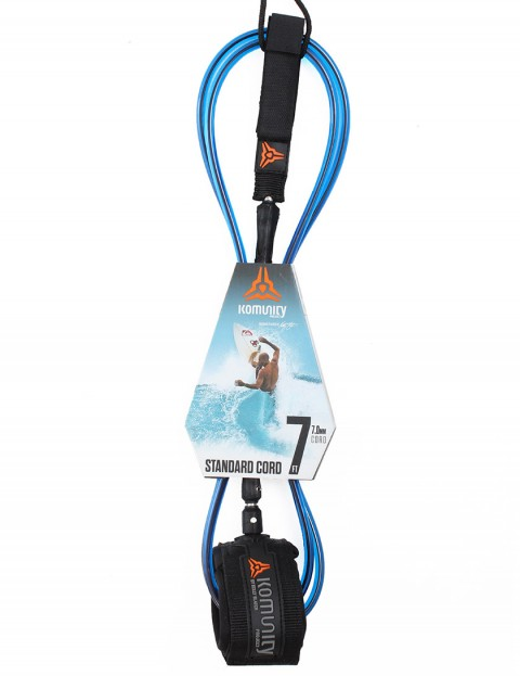 Komunity Project Standard Cord surf leash 7ft - Blue