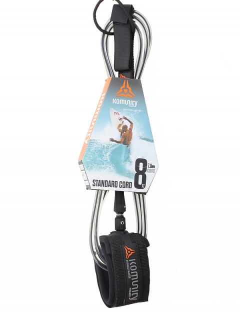 Komunity Project Standard Cord surf leash 8ft - Black