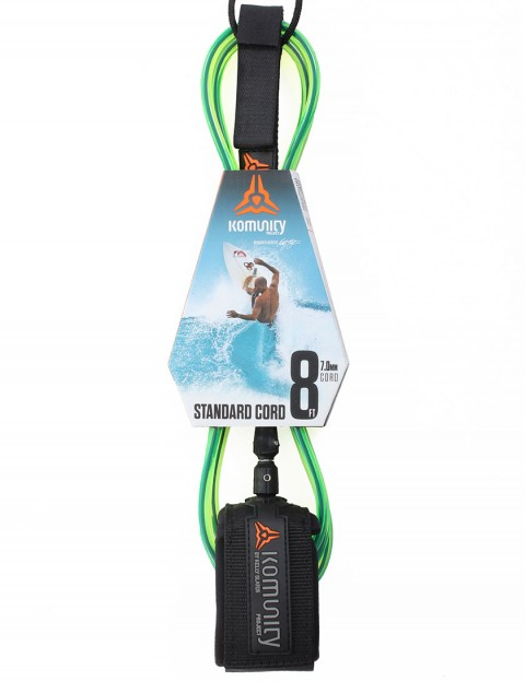 Komunity Project Standard Cord surf leash 8ft - Lime