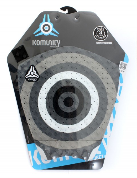 Komunity Project Bullseye surfboard tail pad - Grey