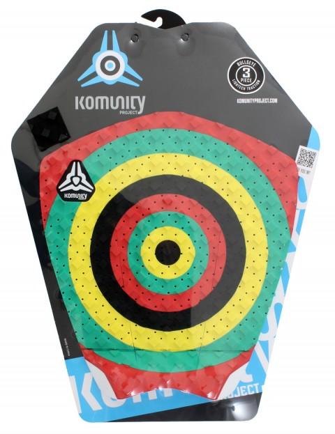 Komunity Project Bullseye surfboard tail pad - Rasta