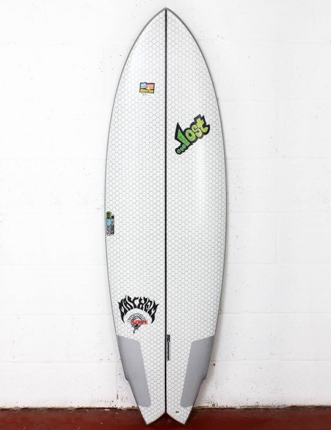 Lib Tech X Lost RNF Redux surfboard 5ft 8 - White