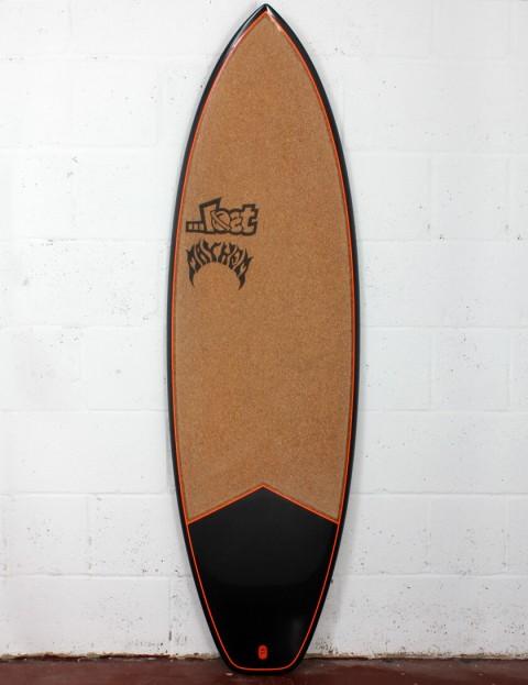 Lost Short Round Surfboard C3 Carbon Cork 5ft 8 FCS II - Orange Detail