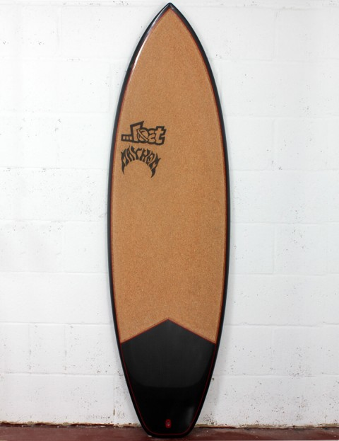 Lost Short Round Surfboard C3 Carbon Cork 6ft 0 FCS II - Red Detail