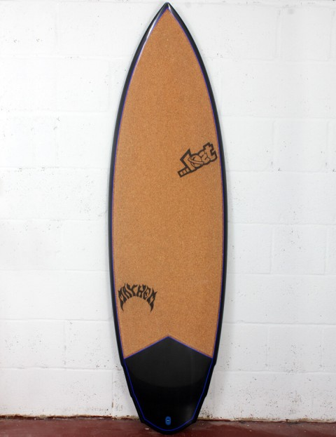 Lost V3 Rocket Surfboard C3 Carbon Cork 6ft 0 FCS II - Blue Detail