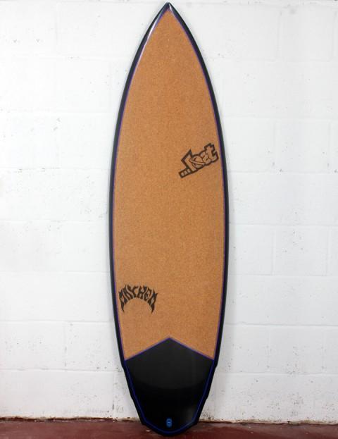 Lost V3 Rocket Surfboard C3 Carbon Cork 6ft 0 FCS II - Blue Detail