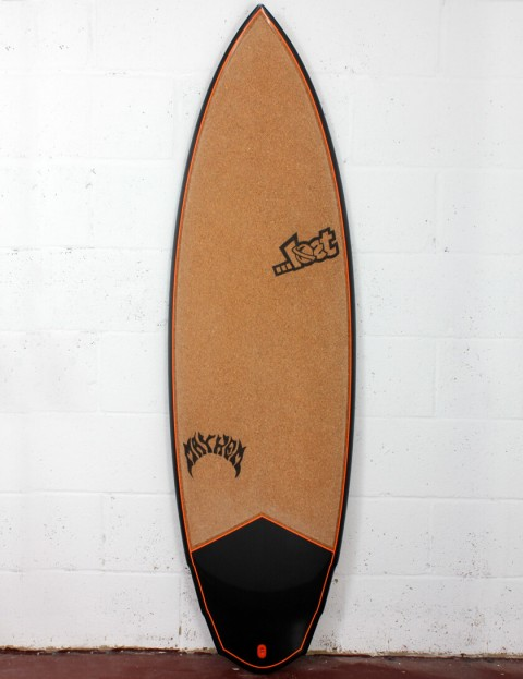 Lost V3 Rocket Surfboard C3 Carbon Cork 5ft 10 FCS II - Orange Detail
