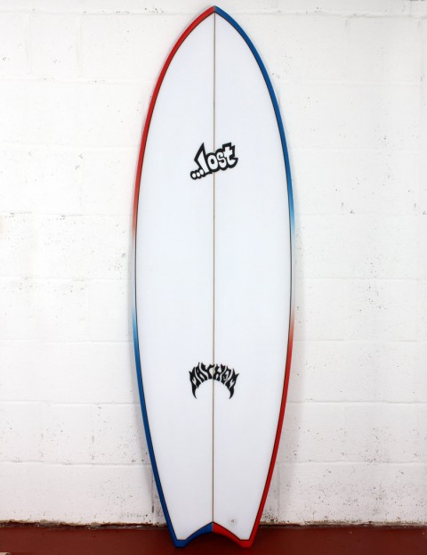 Lost Puddle Fish surfboard 6ft 1 FCS II - Red/White/Blue