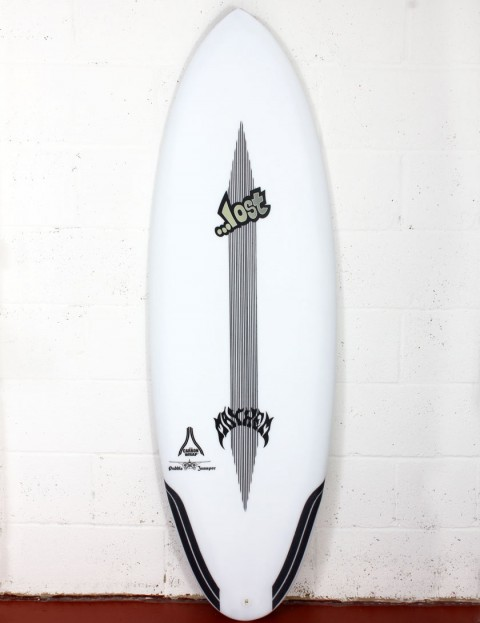 Lost Puddle Jumper RP surfboard Carbon Wrap 5ft 8 FCS II - White
