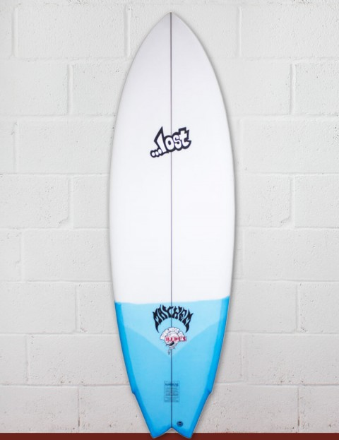 Lost Round Nose Fish Redux Surfboard 5ft 10 Futures - Blue Tail Dip