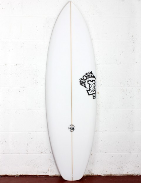 Lost Short Round Surfboard Three Fin 5ft 8 FCS II - White