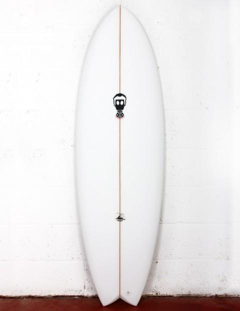 Mark Phipps Caviar surfboard 6ft 2 FCS II - White