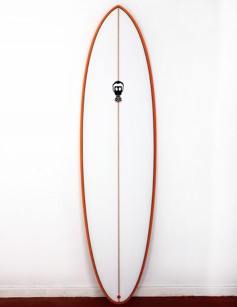 Mark Phipps One Bad Egg surfboard 7ft 0 FCS II - Orange Rail