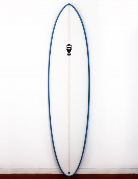 Mark Phipps One Bad Egg surfboard 7ft 2 FCS II - Blue Rail