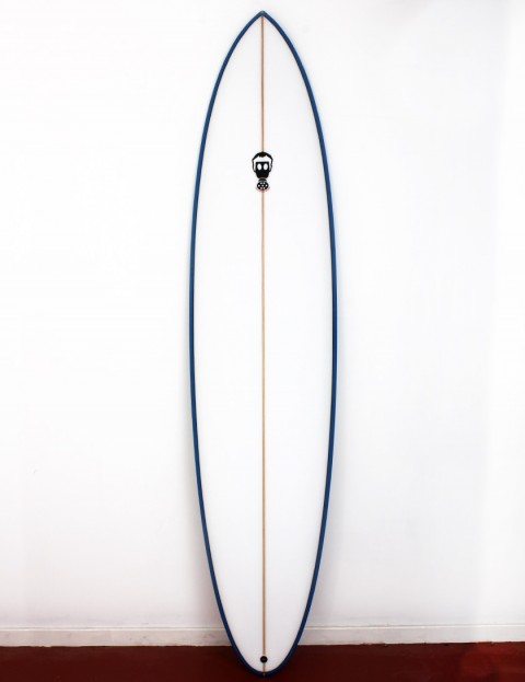 Mark Phipps One Bad Egg surfboard 7ft 6 FCS II - Blue Rail