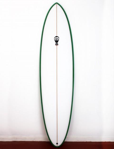 Mark Phipps One Bad Egg surfboard 7ft 2 FCS II - Green Rail
