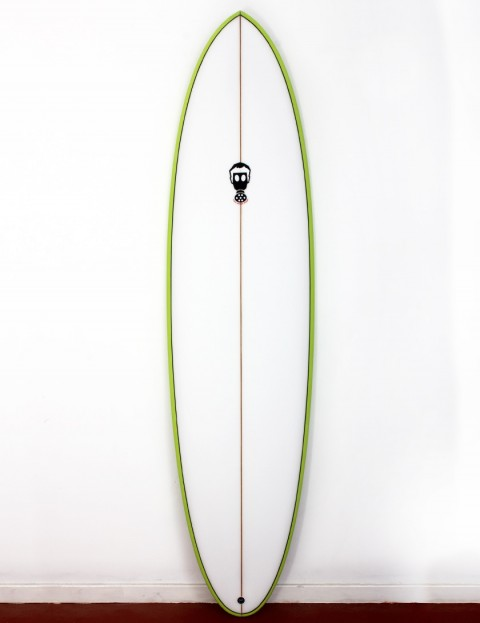 Mark Phipps One Bad Egg surfboard 7ft 0 FCS II - Lime Green Rail