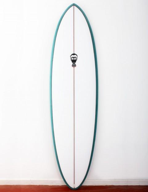 Mark Phipps One Bad Egg surfboard 6ft 6 FCS II - Teal Rail