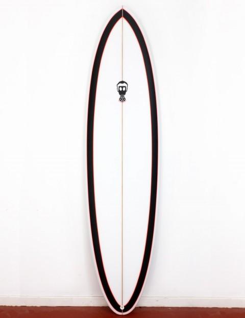 Mark Phipps One Bad Egg surfboard 6ft 10 FCS II - Black Rail/Pink Pinline